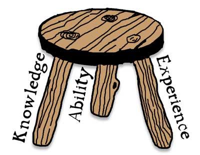A table needs 3 legs