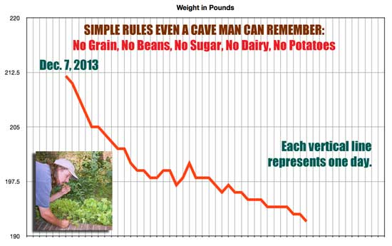 weight loss on the cave man paleo diet