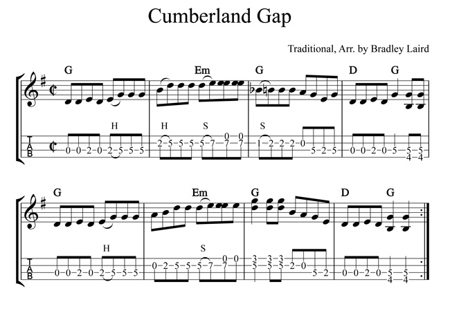 Play The Mandolin Free Mandolin Tablature Cumberland Gap